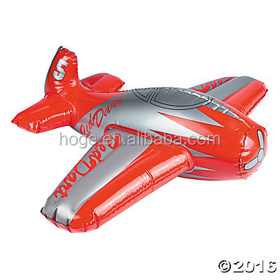 PVC promotional children toys inflatable airplane model with custom printing and size