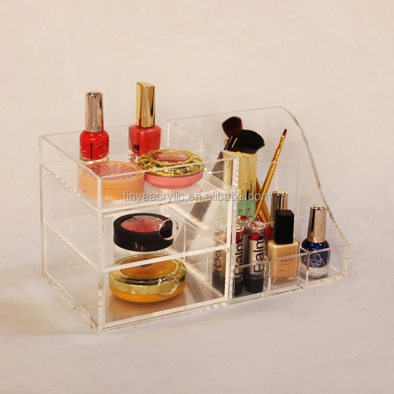 China factory New makeup cosmetic case organizer 6pair eyeflash clear acrylic false eyelash storage box for Holiday gift