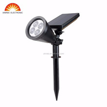 Xinree SL-50A White/Yellow/Green 5Lighting mode 4pcs DIP diameter 10 LED Outdoor Solar Spotlight
