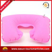 professional professional neck pillow for airline cute pillow flocked pvc travelling pillow