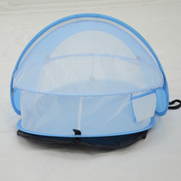 baby travel bed Portable baby beach tent UPF 35+ sun shelter pop up mosquito net+Sleeping Pad and 2 Pegs,super lightweight