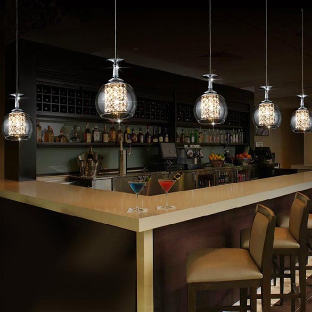 Hohe qualität kristall pendelleuchten und beleuchtung moderne blase glaskugeln esszimmer lampe für schlafzimmer