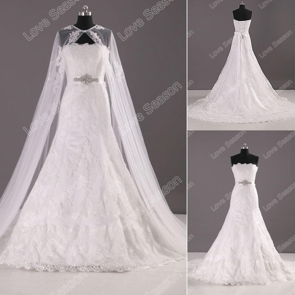 Ls0113 Blining Diamond Sash Cord Lace Shanghai Wedding Dresses New ...