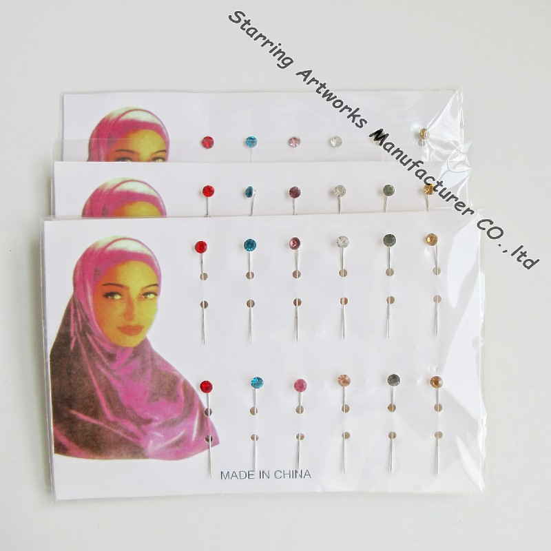 "2.1"" Mixed color steel making hijab magnetic pins for hijab pin storage"