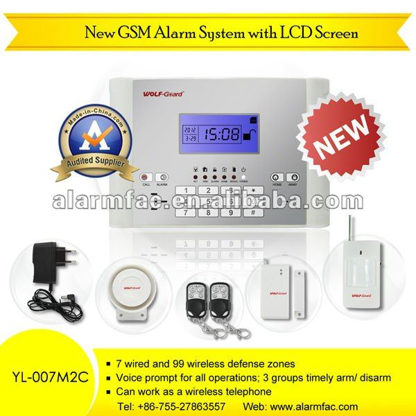 neueste GSM-Alarmanlage GSM-Sicherheit Wireless Smart Security Alarmsystem YL-007M2C Home