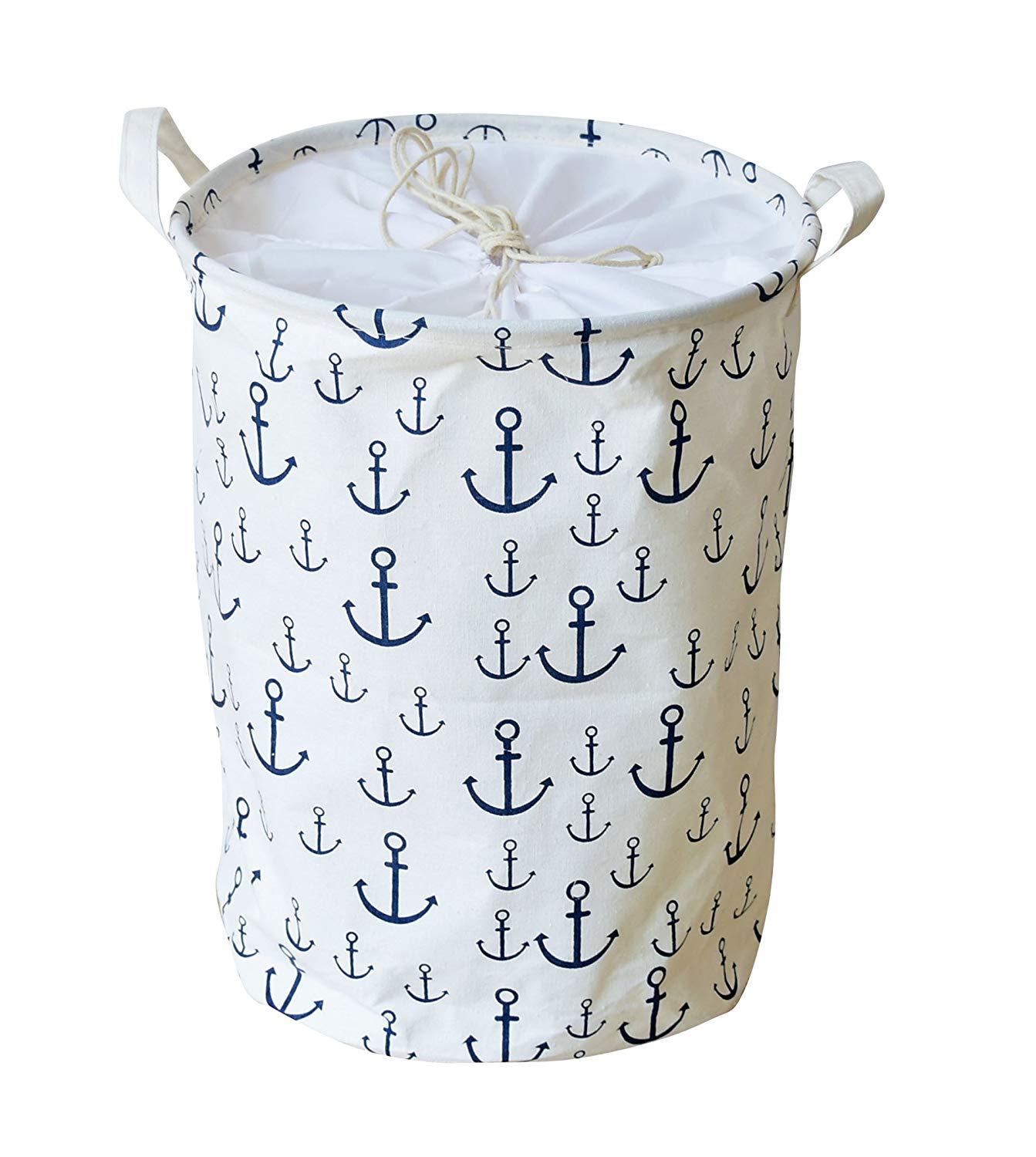 Baby Hamper Nursery Storage Anchor Stripes Large Waterproof Foldable Laundry Hamper Bucket With Handles For Storage Baskets Home Organizer Kids Room Baby Products Nursery