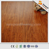 12.3mm glossy with pressed V-groove import export laminate flooring