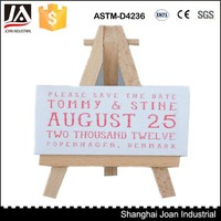 Artist wooden mini easel and canvas