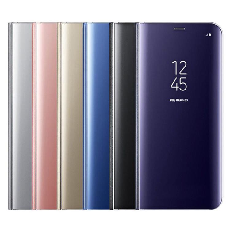 Placage de luxe Miroir Vue Dégagée Housse Pour Samsung S10 Cas, étui Pour Téléphone intelligent Pour Samsung Galaxy S8 S9 S10 S10E Plus