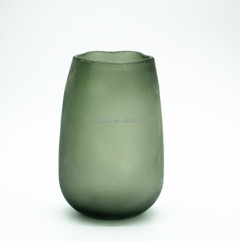 Classic Blown Glass Teardrop Vase With Frosted Surface Buy Glass