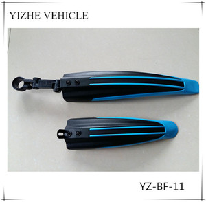 2016 blue + black plastic fender for mountain bicycle / alibaba China bicycle front rear fender / custom bicycle fender for sale