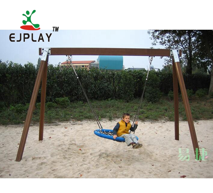 Wonderful Outdoor Wooden Playground Equipment Swing Set For Kids Play