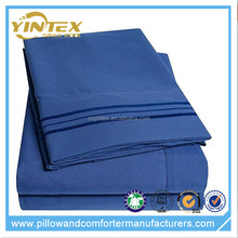 Amazon Hot Sell Polyester Dark Blue Color bed sheet set