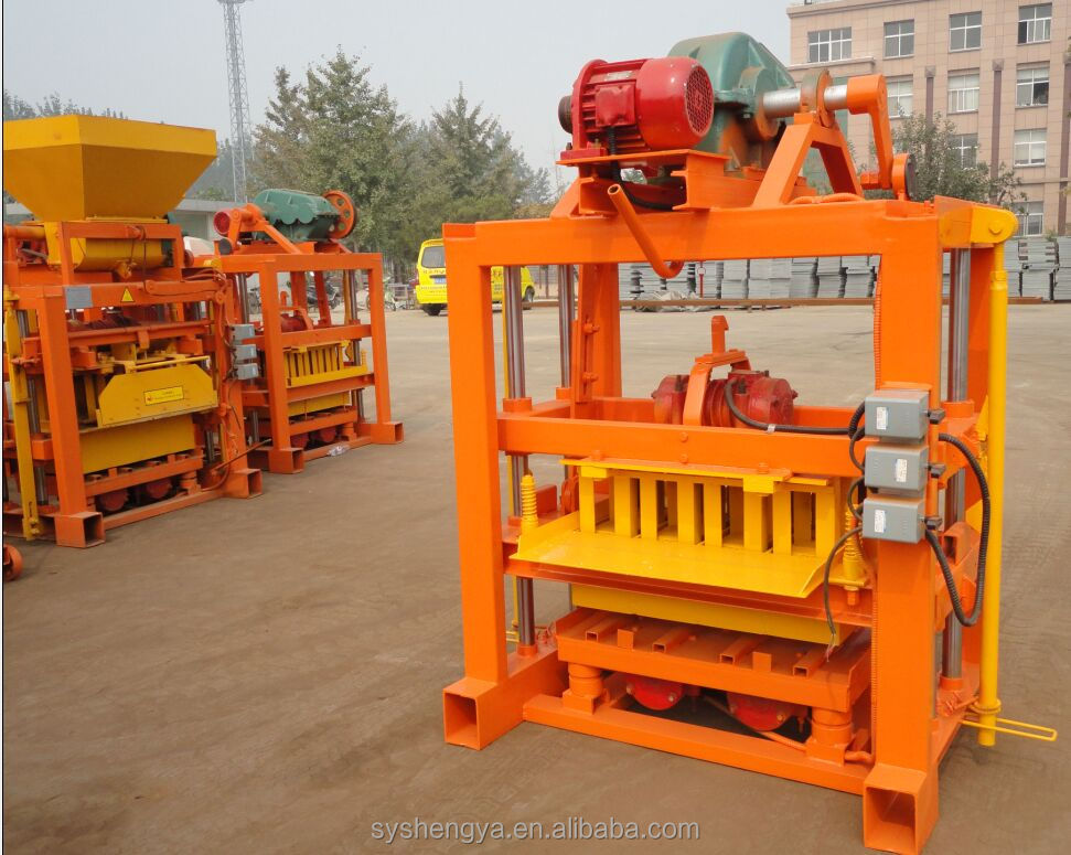 QTJ4-40B Hollow/Paver block/brick making machine/building and construction equipment in Shengya
