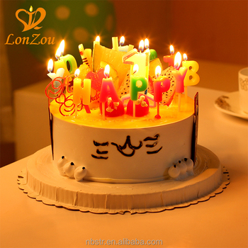 2018 Funny Party Wooden Pick Letter Happy Birthday Candle