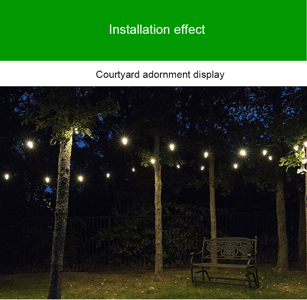 New year top quality Bubble ball string LED Solar Christmas lights for Garden decoration