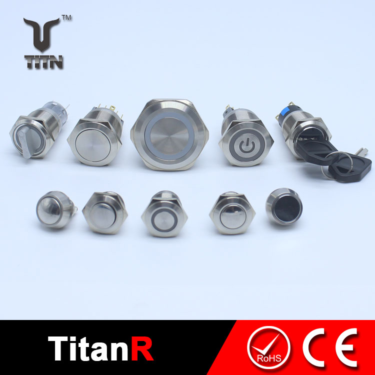 10mm magnetic push button switch and buttons