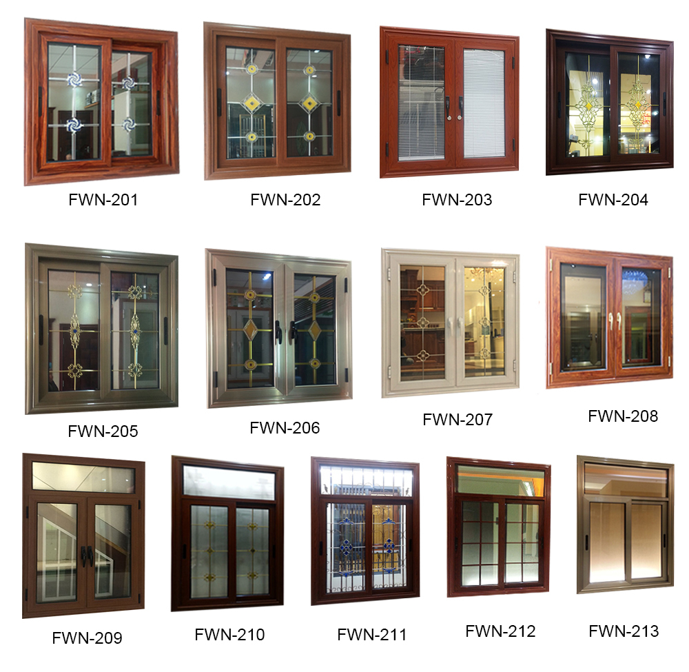 Professionally design of aluminum windows for fixed glass House window layout