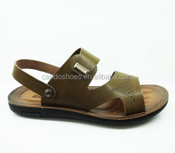 28f553265 textured PU latest design casual ring sandals men pu sandal and slipper  good quality men classic