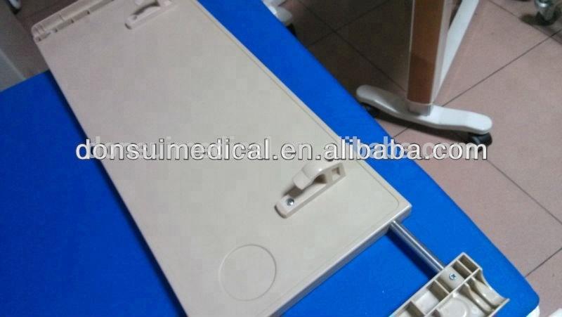 Hospital Adjustable ABS Plastic Price of Plastic Dining Table