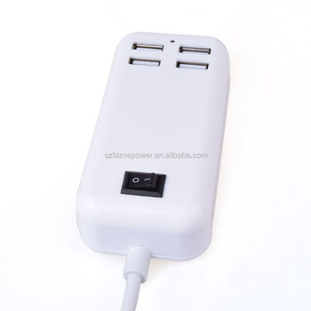 Universal travel 4 port usb charger, usb wall charger, usb charging station for Samsung/Iphone/ipad/HTC