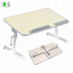 Hot selling adjustable height desktop laptop studying table desk bed table