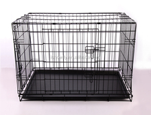 Foldable collapsible wire dog cage