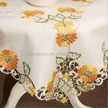 Hand Embroidery Designs TableclothsTable ClothTable Cover