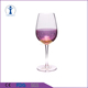 Wholesale High Quality Europe Style Globet Purple Colored Crackle Wine Glass