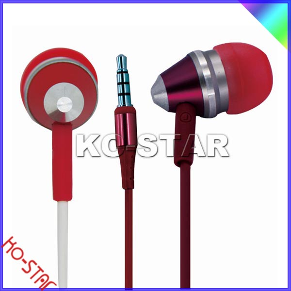 Beautiful pink metal bullet earphone,Good for listening MP3/Music, watching DVD/movie, online chatting and game playing.