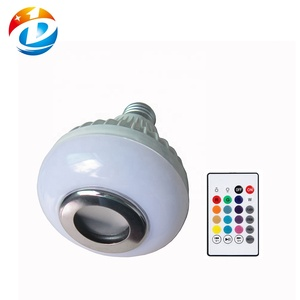 12W Smart E27 RGB Bluetooth Speaker LED Bulb Light Music with remote Control