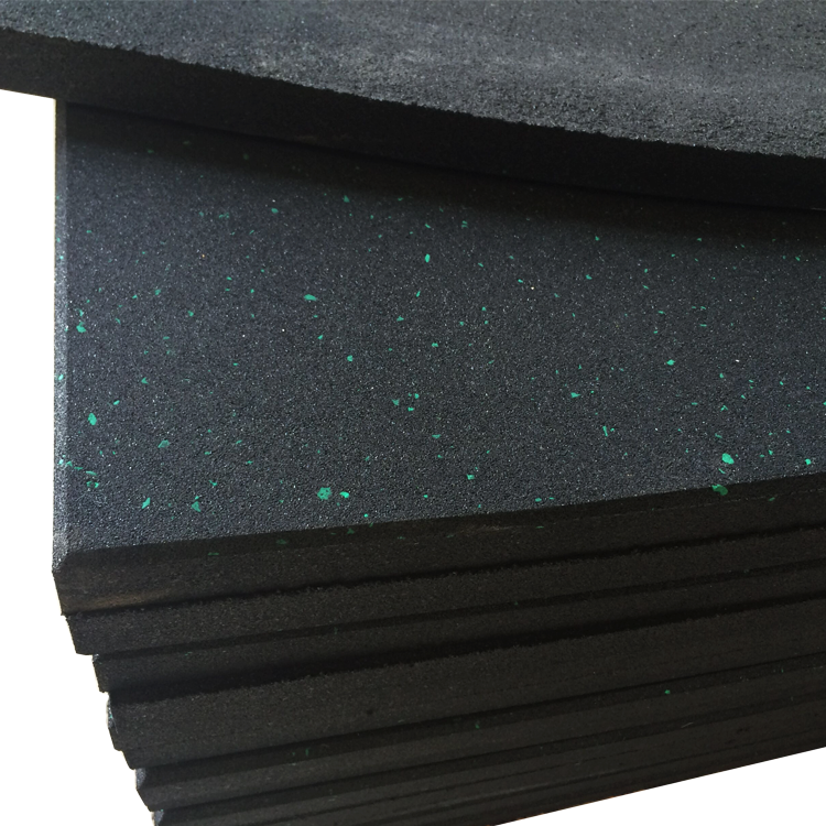 Black Recycled Rubber Floor Tiles Mats High Quality Gym Rubber Flooring  Mats interlock rubber mat