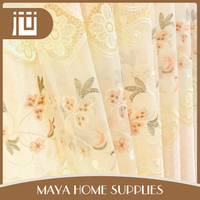Golden supplier high quality wholesale organza curtain fabrics turkey