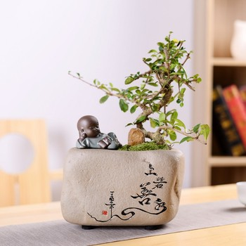 Flower Pots Decor Small Ceramic Planters Pot Flowing Glazed Home Garden Desktop Succulent Plant Pot Flowerpot