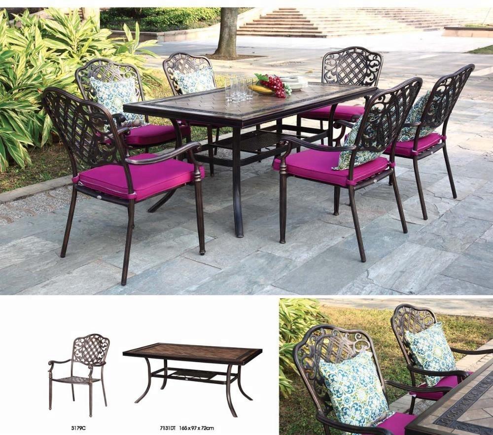 outdoor patio Cast Aluminum Furniture Aluminum Dining Chair