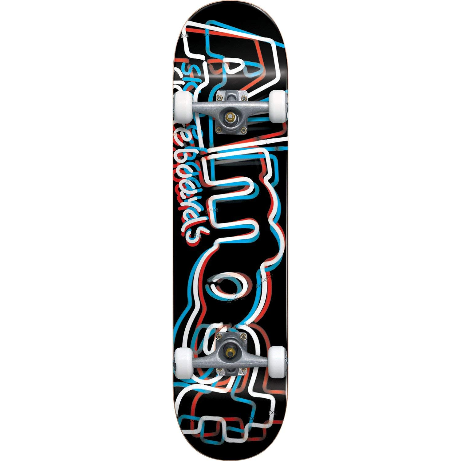 "Almost Skateboards Neon Black / Red / White / Blue Complete Skateboard - 8"" x 31.7"""
