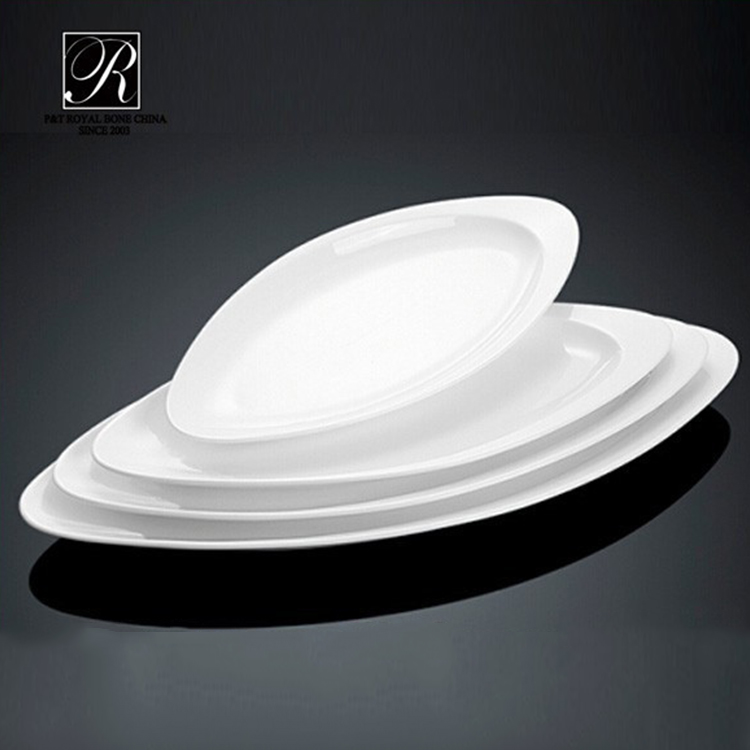 P&T Royal Ware buffet serving dish wholesale dinner plates white porcelain dinner plates