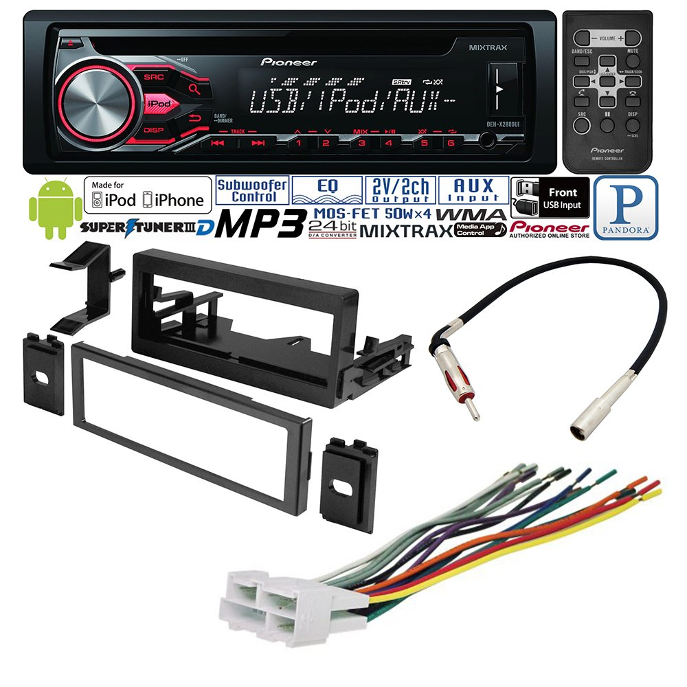 CADILLAC CHEVROLET GMC 1995- 2002 CAR STEREO RADIO DASH INSTALLATION MOUNTING KIT W/ WIRING HARNESS RADIO ANTENNA ADAPTER