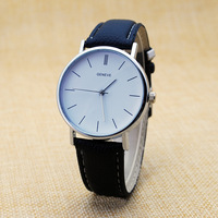 Pu Leather Strap Geneva Quartz Stainless Steel Back Men Fashion Men Wrist Watches Watch