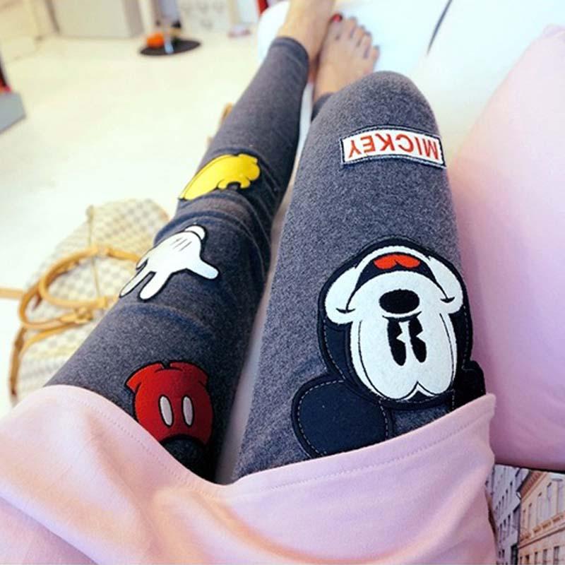Sport Nylon Punk Leggings Rushed Cartoon Mid Cotton Bamboo Fiber Leggins 2016 South Korea Shopping Fashion