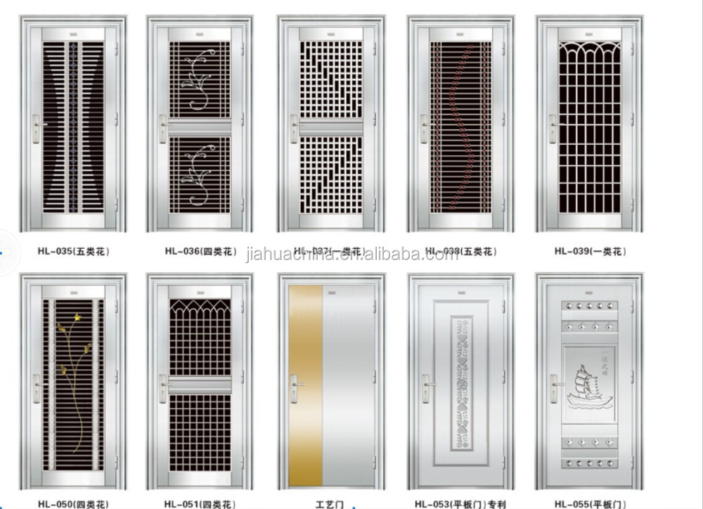 Modern Exterior Metal Doors alibaba new model stainless steel door design arch top modern