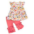 wholesale bulk kids clothing floral casual ruffle shorts girls outfits cheap children clothes