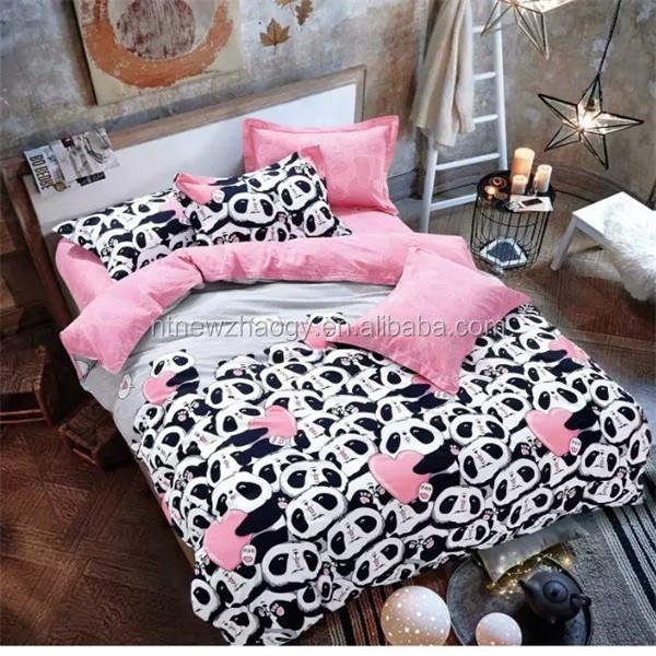 Piumino Copripiumino.Hotsale Pigmento Stampa Cotone Rosa Cuore Panda Piumino