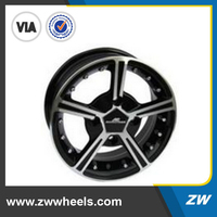 ZW-Z2203 15 inch Aluminum alloy cheap rims and tires in stock
