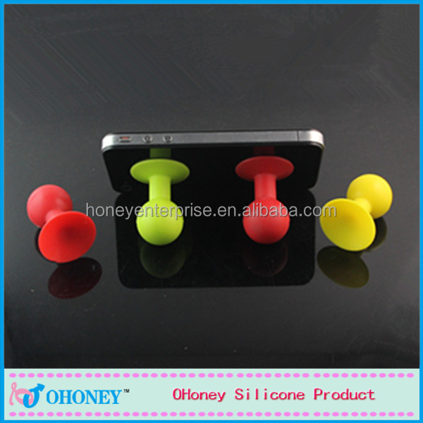 Wholesale cute style silicone phone sucker, guangzhou factory, China