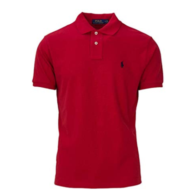 2018 nieuwe Mens Custom korte mouw Slim Fit Polo Shirt