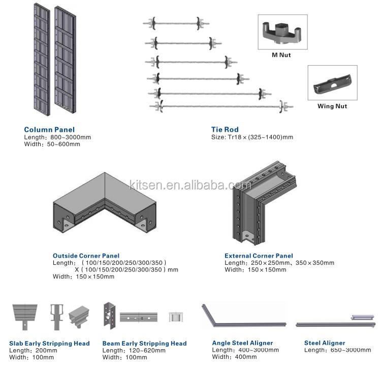 Aluminium Formwork For Lift Core Wall Slab Stair