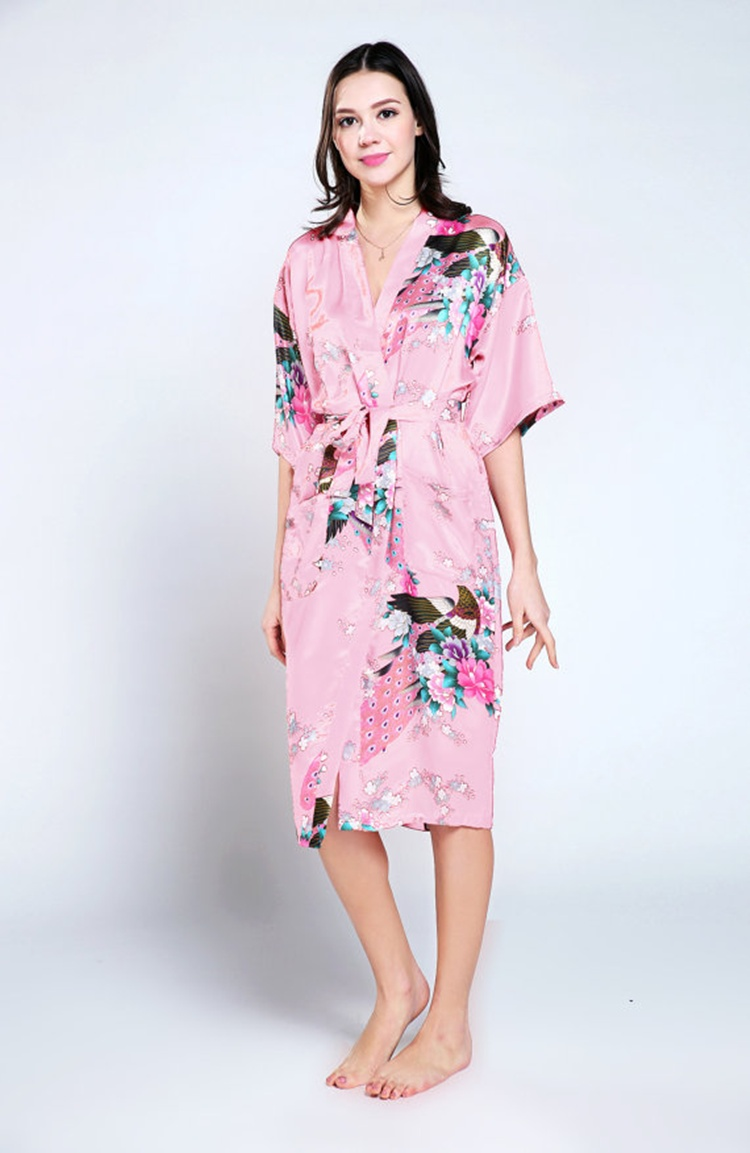 2019 Wholesale New Silk Wedding Robes Bathrobe Women Silk