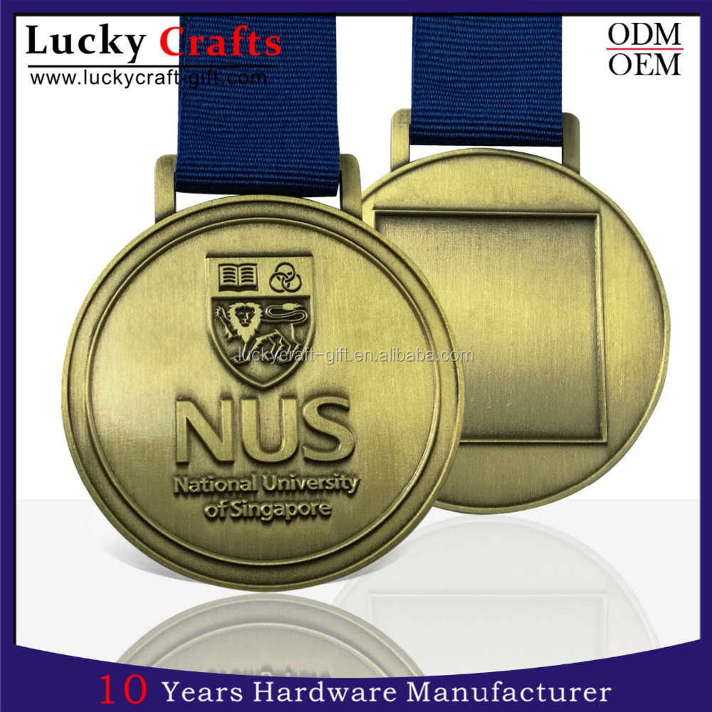 Design your own casting metal graduation medal with ribbon