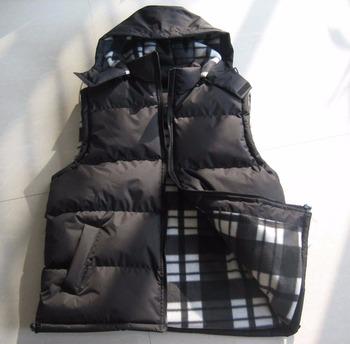 Casual con cappuccio da uomo giacca senza maniche controllare foderato in  pile gilet mens bolla maglia dd6740d35e5